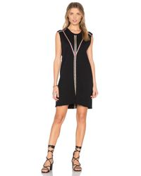 27 Miles Malibu Black Leora Embroidered Dress