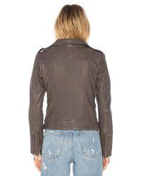 Doma Leather - Gray Basic Moto Jacket - Lyst