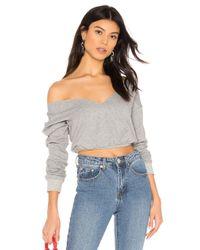 superdown Gray Aneela Cropped Sweatshirt