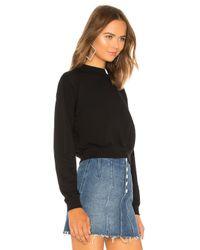 Cotton Citizen Milan クロップスウェットシャツ Black