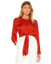 L'academie Red The Amaia Top