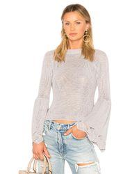 Elliatt Purple Soleil Knit Top
