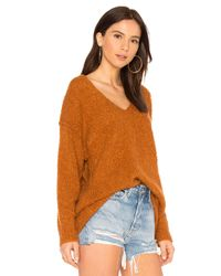 Free People Multicolor Lofty V Neck Sweater