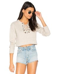 Mother Natural The Tie Up Easy Crop Sweatshirt