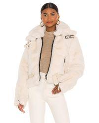 Sam. White Faux Fur Penelope Jacket