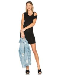 Riller & Fount Black Kris Cold Shoulder Mini Dress