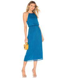 House of Harlow 1960 Blue X REVOLVE Farrah Silk Dress