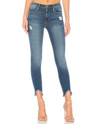 FRAME Blue High-Rise-Jeans, Skinny-Fit. Size 26.