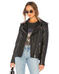 Chaqueta cuero Urban Outfitters de color Black