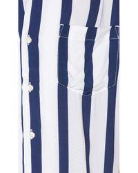 Neuw Stripe Short Sleeve Shirt in Blue für Herren
