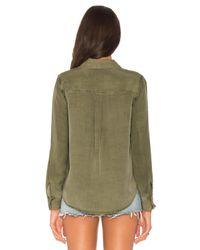 Splendid - Green Military Shirt - Lyst
