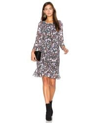 Twelfth Street Cynthia Vincent Black Smocked Flounce Dress