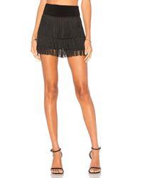 Norma Kamali Black Fringe All Over Shorts