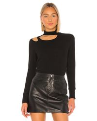 LNA Black Brushed Paolo Sweater