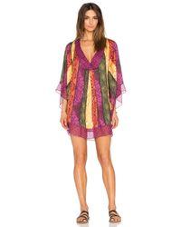 Agua de Coco - Multicolor Handmade Lace Satin Tunic - Lyst