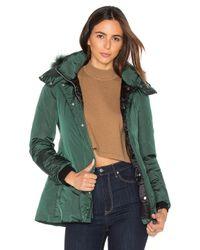 Add | Blue Down Jacket With Asiatic Raccoon Fur | Lyst