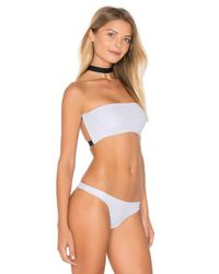 Aila Blue - Black Double Bandeau With Removable Choker - Lyst