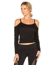 Alo Yoga   Black Evolve Long Sleeve Top   Lyst