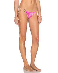 Beach Bunny | Pink Siren'S Song Side-Tie Bikini-Bottom | Lyst