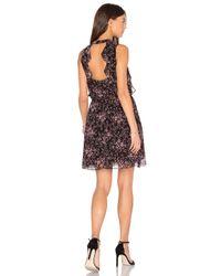 BCBGeneration   Black Ruffle Front Dress   Lyst
