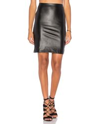 Bishop + Young Black Vegan Leather Pencil Skirt