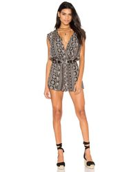 Bishop + Young - Multicolor Black Printed Romper - Lyst
