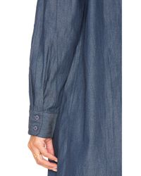 Blq Basiq - Blue Chambray Shirt Dress - Lyst
