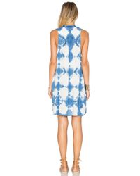 Blue Life Blue Sleeveless Crepe Shift Dress