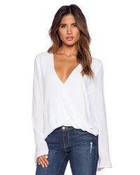 Blue Life White Hayley Top