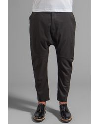 Chapter Gray Xaiver Layered Drop Seat Pant
