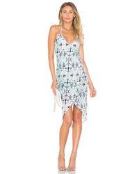 Chloe Oliver White Open Sea Cruise Silk Dress