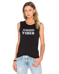 Daydreamer Black Good Vibes Cotton-Blend Tank