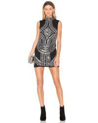 Endless Rose | Black High Neck Embellished Mini Dress | Lyst