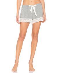 Flora Nikrooz | Gray Snuggle Knit Lace Shorts | Lyst