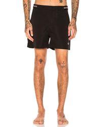 Fred Perry | Black Bomber Tape Swim Shorts for Men | Lyst