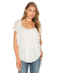 Free People | White Forever And Always Top | Lyst