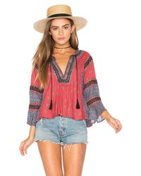 Free People   Red But I Like It Top   Lyst