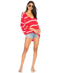 Free People | Red Upstate Stripe Tee | Lyst