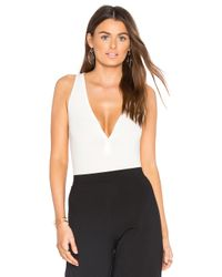 Getting Back to Square One - White Button Front Bodysuit - Lyst