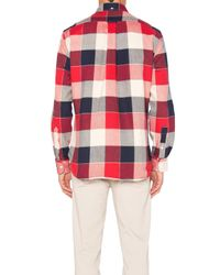 Gitman Brothers Vintage - Red Double Face Twill Button Down for Men - Lyst