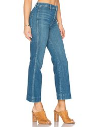 The Great - Blue The Sea Crop Jeans - Lyst