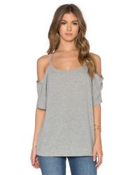 Hye Park and Lune | Gray Camilla Short Sleeve Top | Lyst