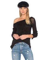 INHABIT   Black Long Sleeve Sweater   Lyst