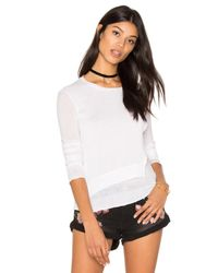 INHABIT | White Layered Crew Neck Sweater | Lyst