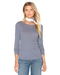 James Perse Multicolor Long Sleeve Crew Neck Tee