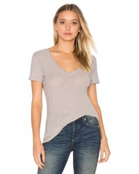 James Perse | Black Casual V Neck Tee | Lyst