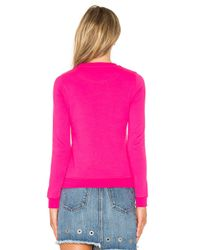 KENZO - Pink Embroidered Tiger Pullover - Lyst