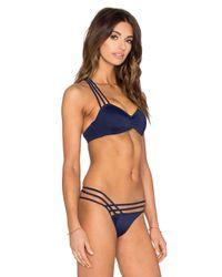 L'Agent by Agent Provocateur Blue Melita Bikini Top
