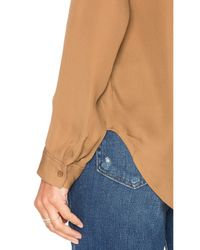 L'Agence - Multicolor Margaret Double Pocket Blouse - Lyst