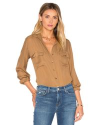 L'Agence - Multicolor Margaret Double Pocket Blouse - Lyst